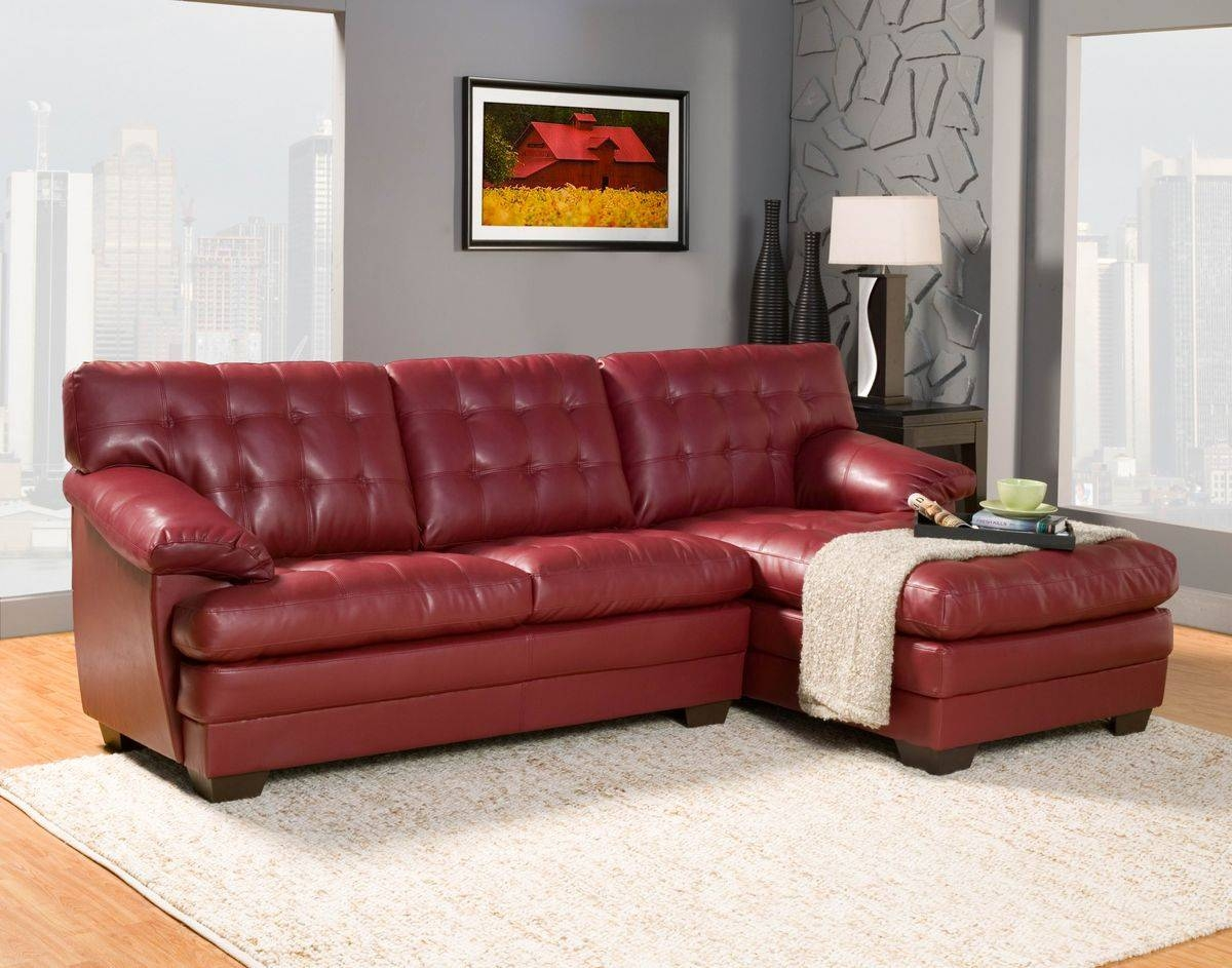 2 Pc Brooks Collection Red with regard to 2 Seat Sectional Sofas (Image 3 of 30)