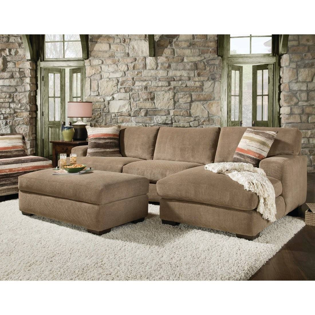 2 Piece Sectional Sofa With Chaise Cover | Tehranmix Decoration pertaining to Sectional Sofa With Large Ottoman (Image 1 of 30)