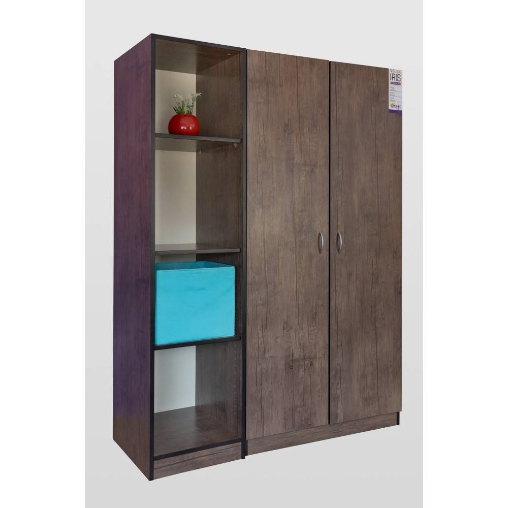 2 Piece Wardrobe Combo Antik Dark within Wardrobes and Drawers Combo (Image 1 of 15)