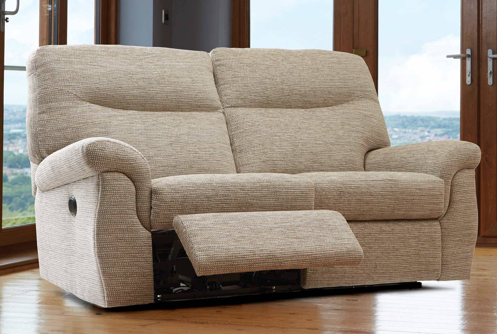 2 Seater Recliner Sofa Fabric - Simoon - Simoon in 2 Seat Recliner Sofas (Image 4 of 30)