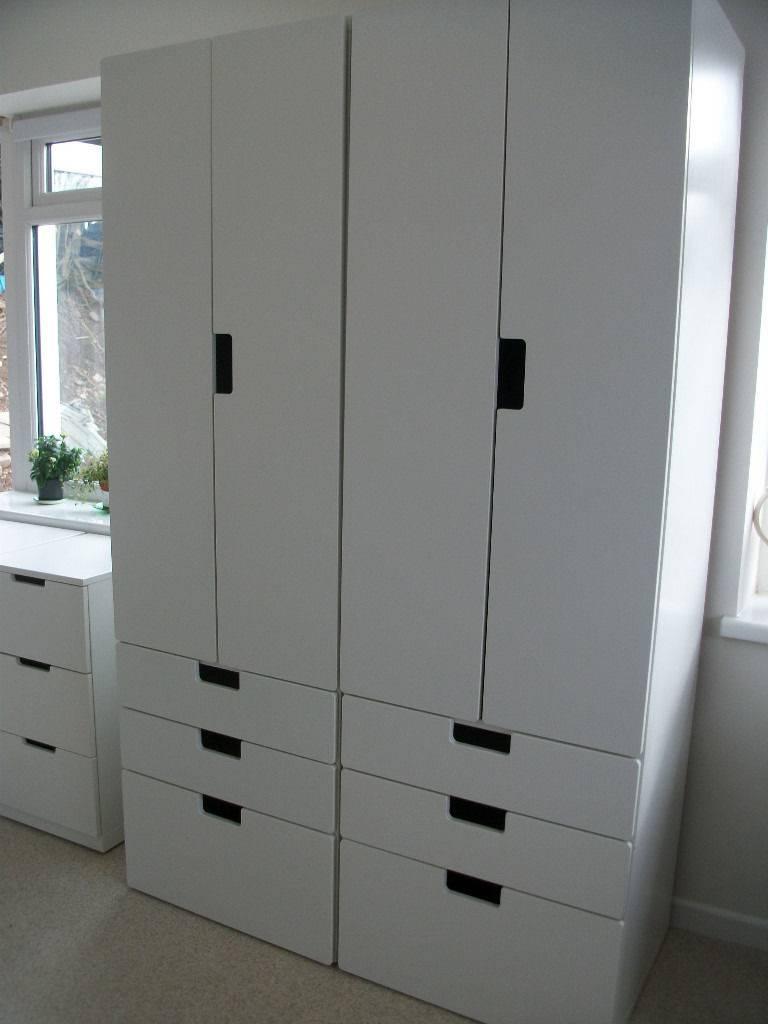 2 White Ikea Stuva Wardrobe And Drawers Combo Plus 2 Nordli 3 pertaining to Wardrobes and Drawers Combo (Image 2 of 15)