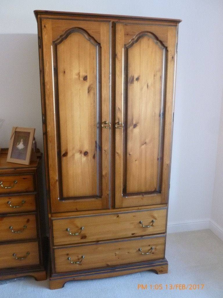 2 X Beautiful Solid Antique Pine Wardrobes   In Burnley With Pine Wardrobes (View 13 of 15)