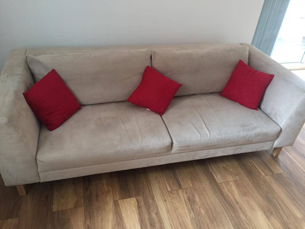 2 X Three Seater Ikea Sofas | In Manchester City Centre throughout Manchester Sofas (Image 1 of 30)