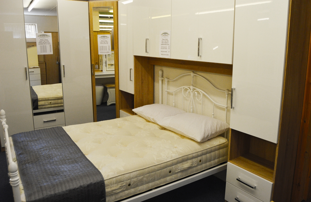 20% Off The Samos, Milos And Luxor 4 Semi Fitted Wardrobe With Over Bed Wardrobes Units (View 3 of 15)