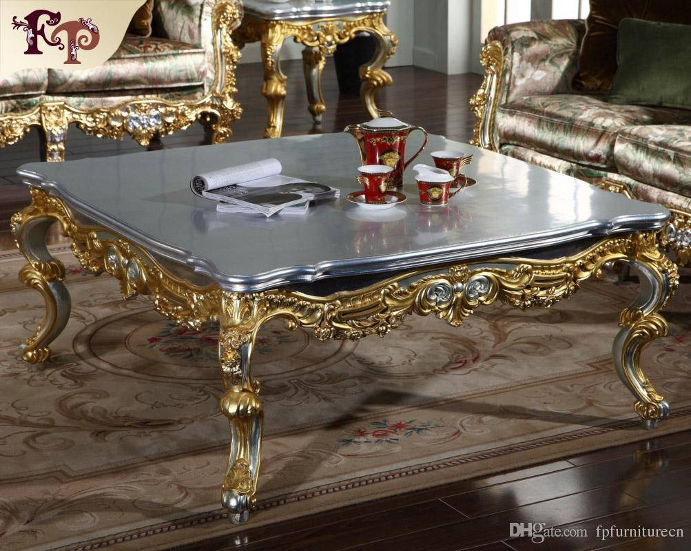 2017 Antique Classic Furniture French Classic Coffee Table With regarding White French Coffee Tables (Image 1 of 30)