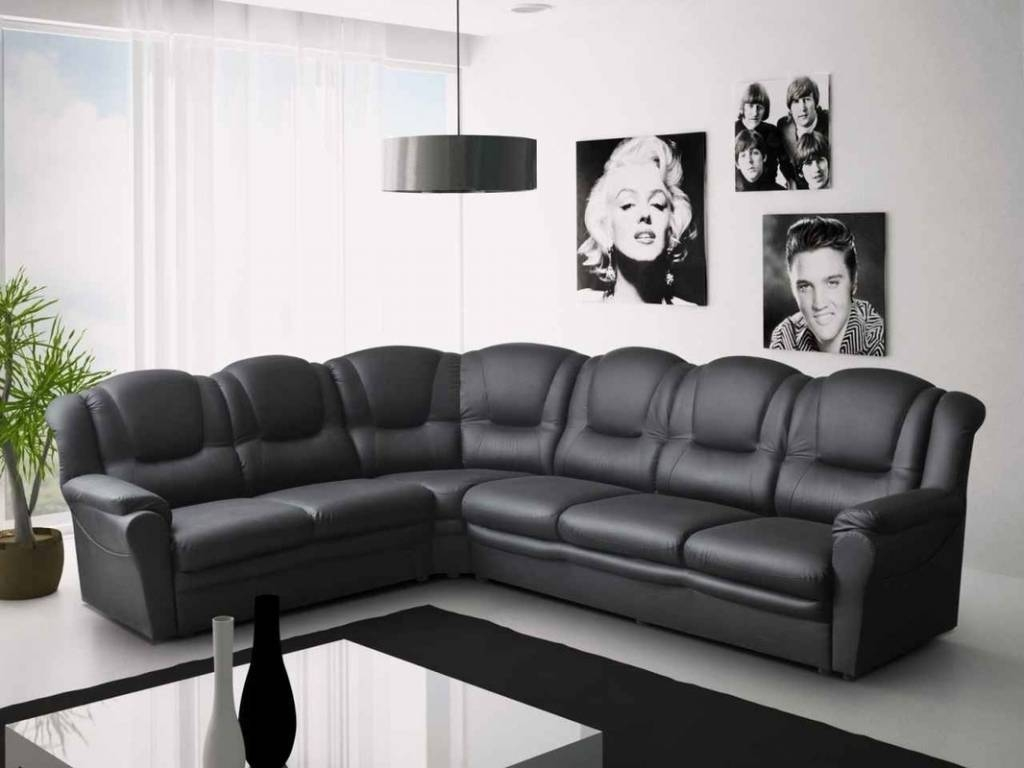 2017 Best Quality Full Size Very Large Corner Sofas With Chaise inside Large Black Leather Corner Sofas (Image 1 of 30)