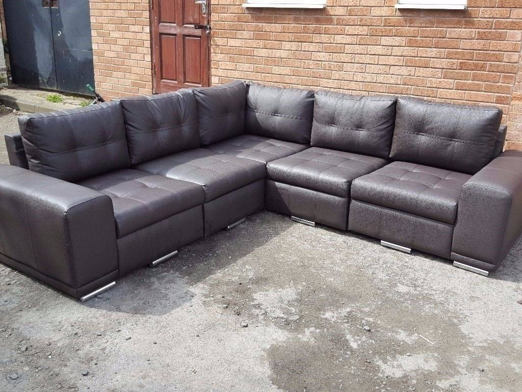 2017 Best Quality Full Size Very Large Corner Sofas With Chaise regarding Large Black Leather Corner Sofas (Image 2 of 30)