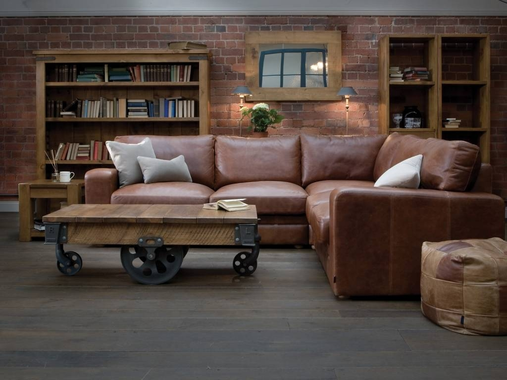 30 Best Collection of Leather Corner Sofas
