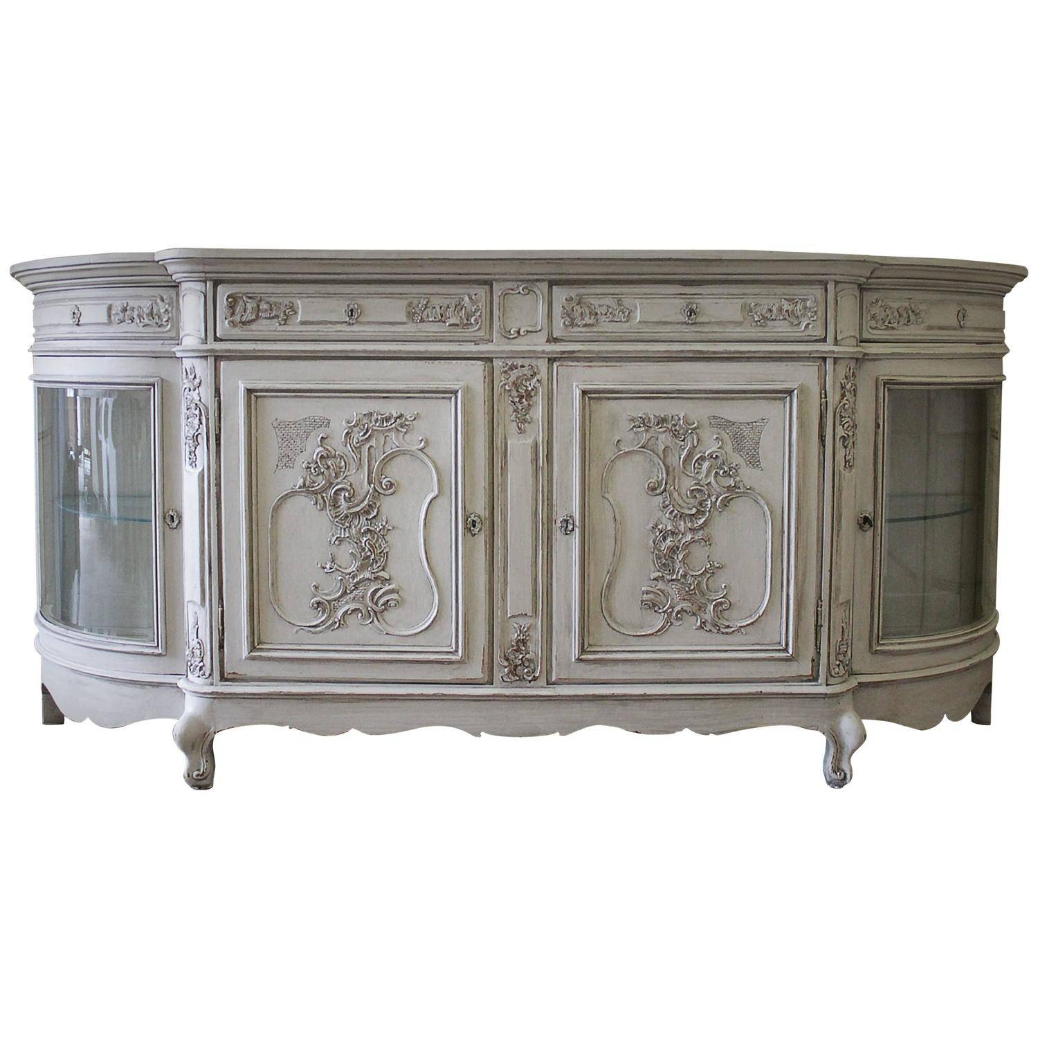 20Th Century Antique Painted French Oak Server For Sale At 1Stdibs within French Style Sideboards (Image 1 of 30)