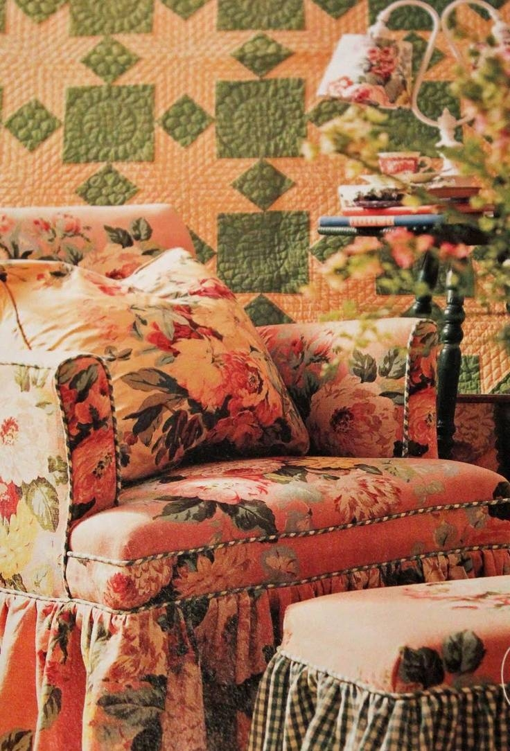 216 Best Chintz Images On Pinterest | Floral Prints, Floral Chair inside Chintz Covered Sofas (Image 2 of 30)