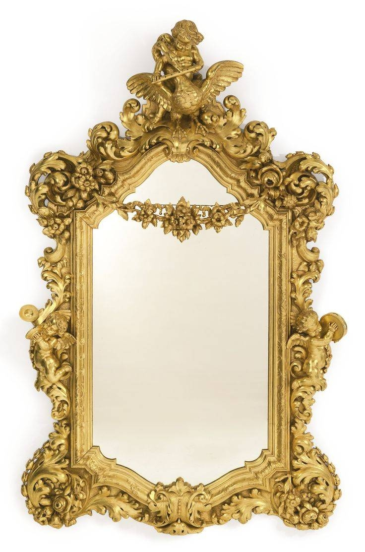 217 Best Antique Frames Images On Pinterest | Antique Frames in Large Baroque Mirrors (Image 2 of 25)