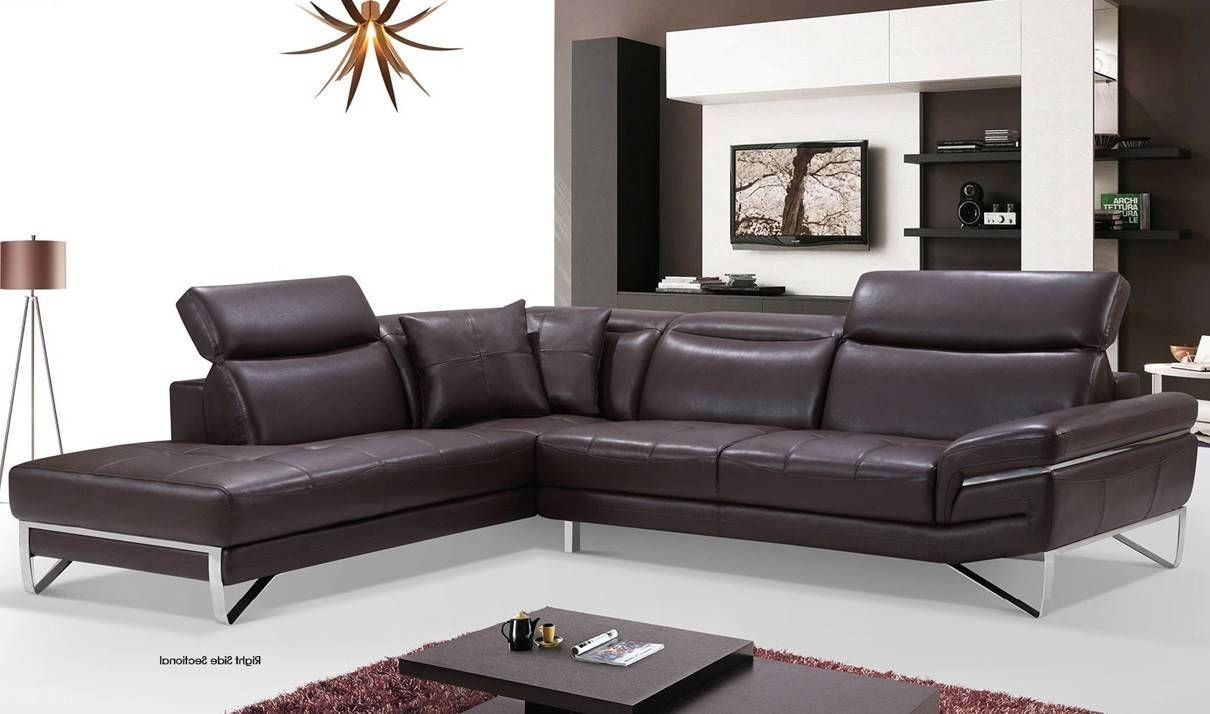 2194 Leather Sectional Sofa In Chocolate | Free Shipping | Get pertaining to Chocolate Brown Sectional Sofa (Image 4 of 30)