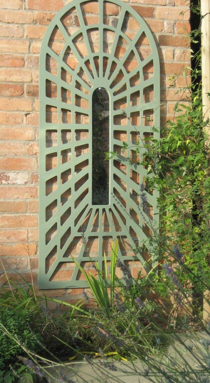 22 Best Trompe L'oeil Trellis Images On Pinterest | Garden Mirrors inside Garden Wall Mirrors (Image 6 of 25)