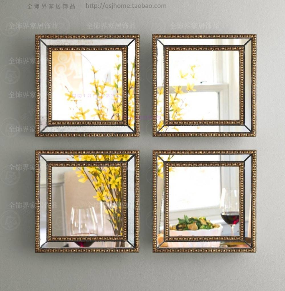 22 Contemporary Mirror Wall Art, Wall Mirror Framed Wall Art Set inside Square Wall Mirrors (Image 1 of 25)