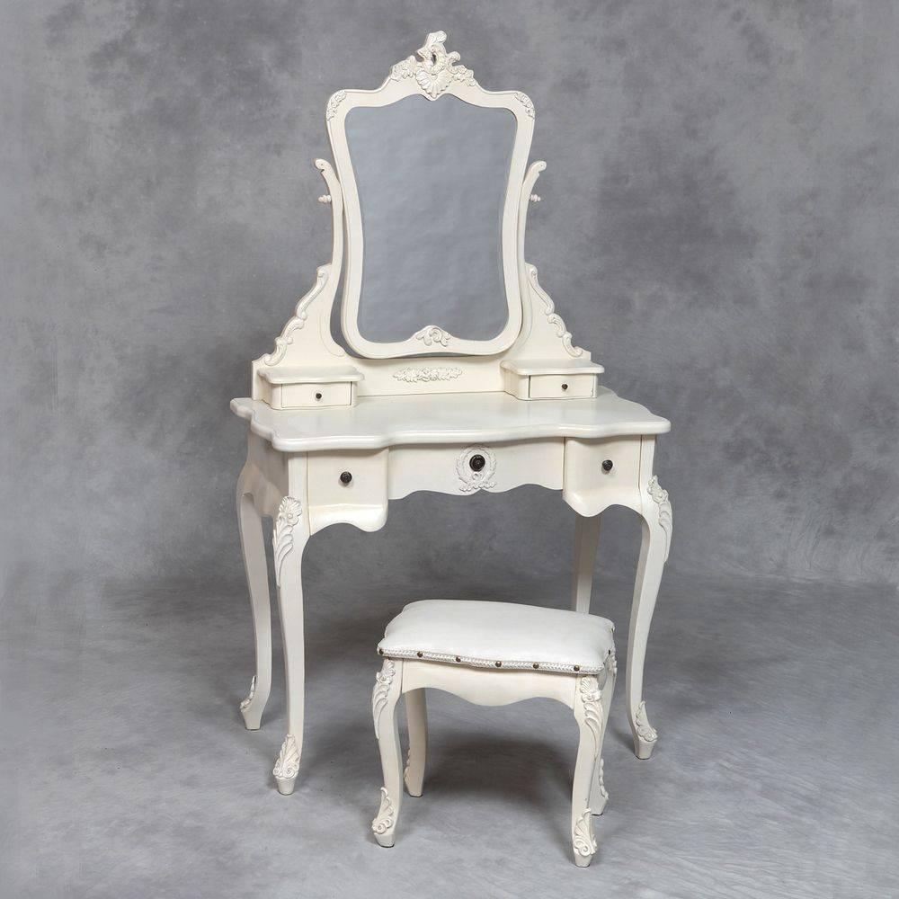 22 French Dressing Table Set, Luxury French Style Pricess Dresser throughout French Style Dressing Table Mirrors (Image 1 of 25)
