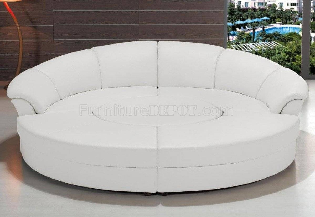 2276 Circle Sectional Sofa In White Bonded Leathervig intended for Circle Sectional Sofa (Image 1 of 30)