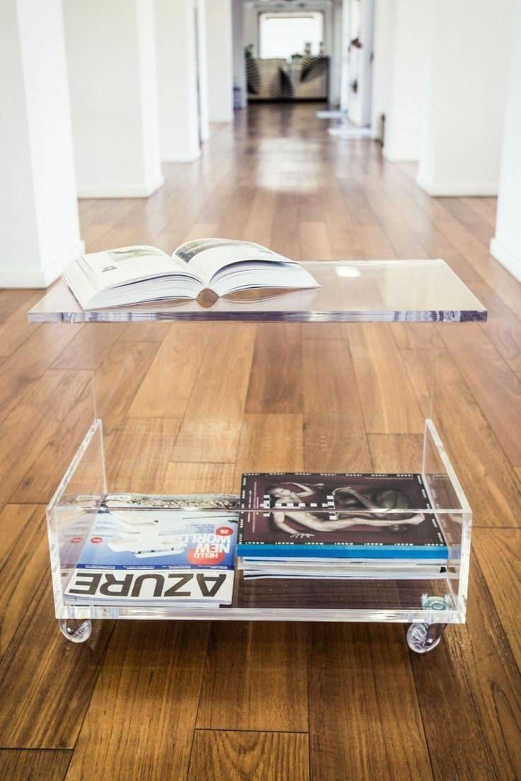 243 Best Plexiglass Images On Pinterest | Lucite Tray, Acrylic with regard to Acrylic Coffee Tables With Magazine Rack (Image 2 of 30)