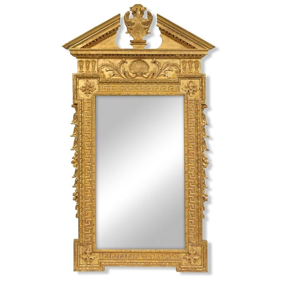 24K Gold William Kent Mirror | Mirrors | Mirrors | Home Decor for Gold Arch Mirrors (Image 1 of 25)