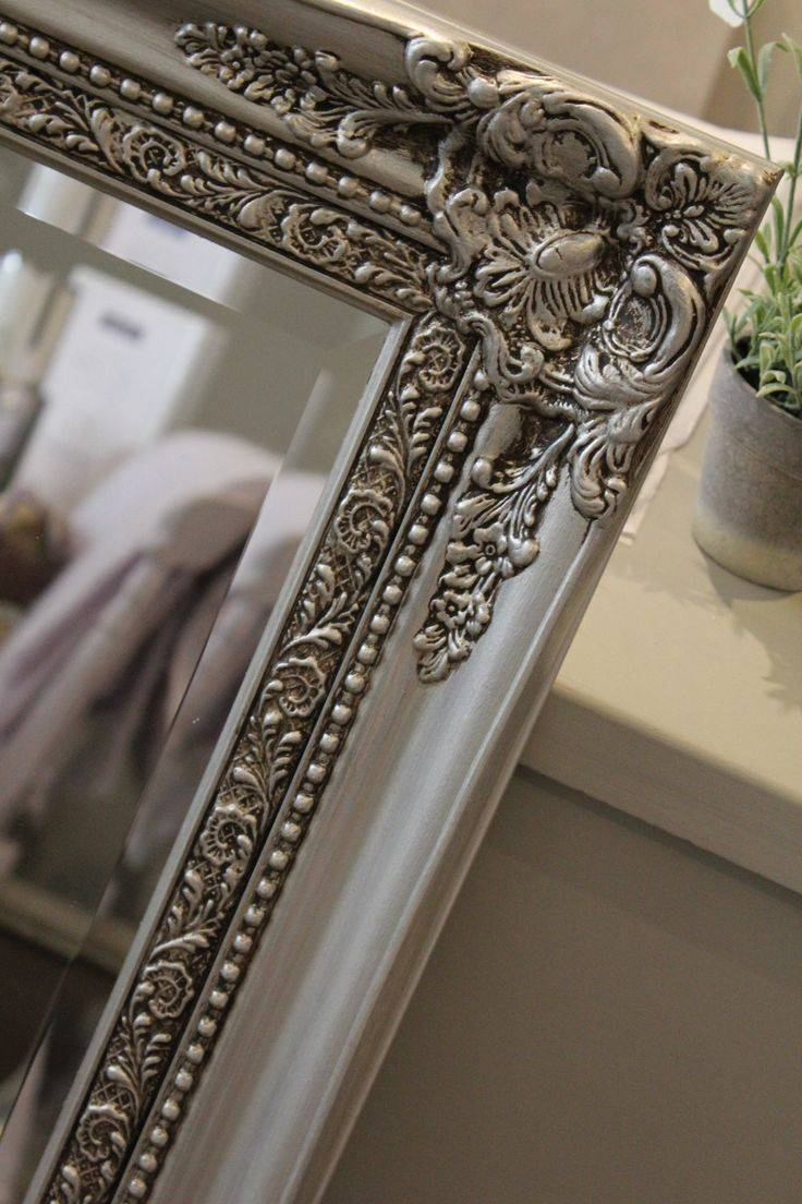 25+ Best Painted Mirror Frames Ideas On Pinterest | Painting A intended for Distressed Silver Mirrors (Image 2 of 25)