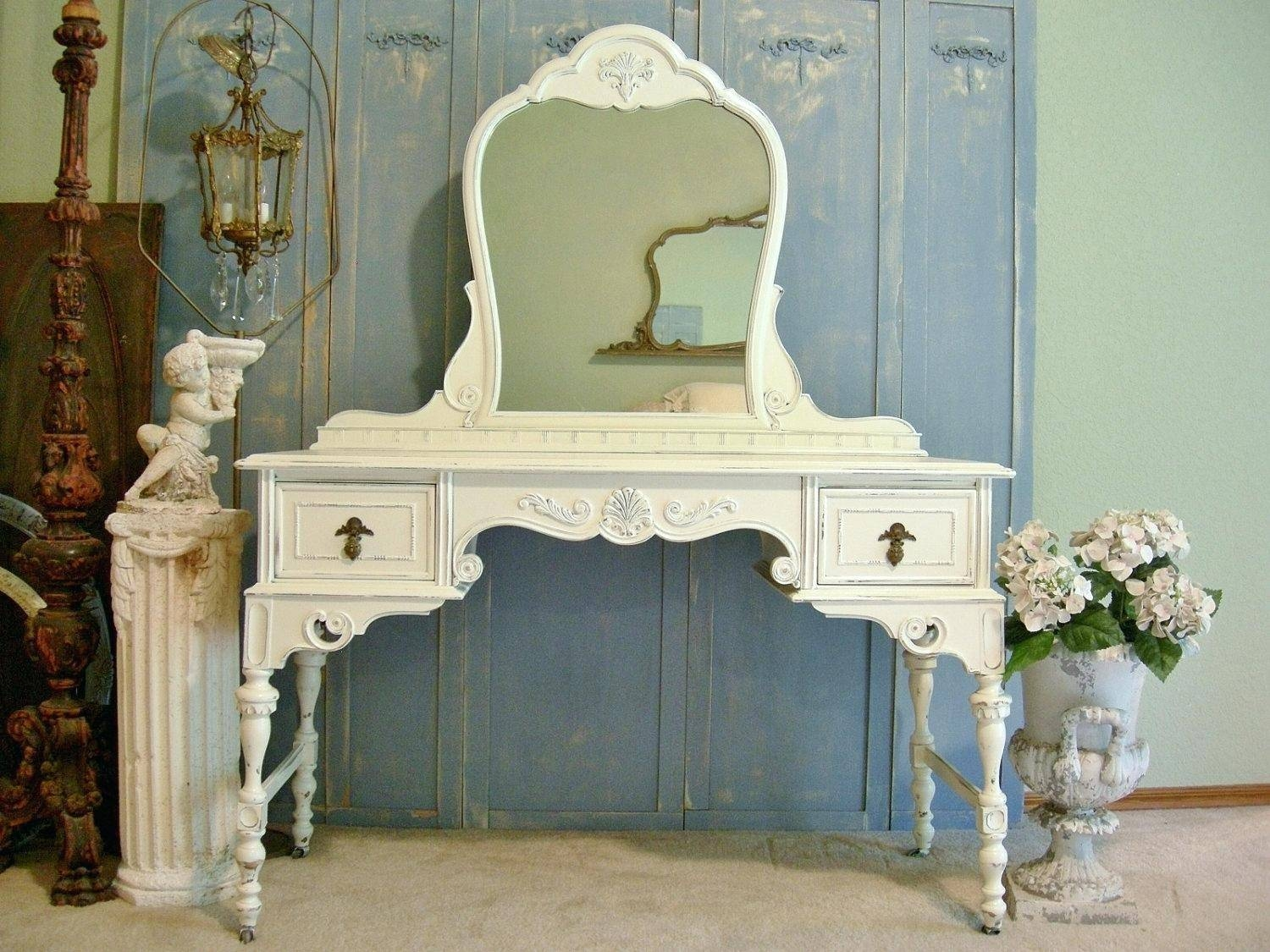 25 Cozy Shabby Chic Furniture Ideas For Your Homeshabby White inside White Shabby Chic Mirrors Sale (Image 3 of 25)