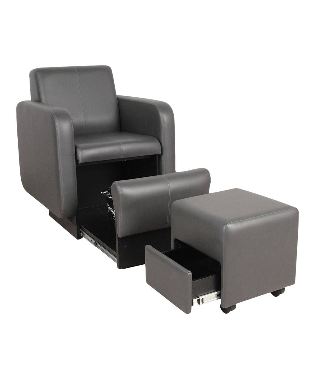 2555 Blush Club Pedicure Chair W/ Footsie Bath for Sofa Pedicure Chairs (Image 1 of 15)