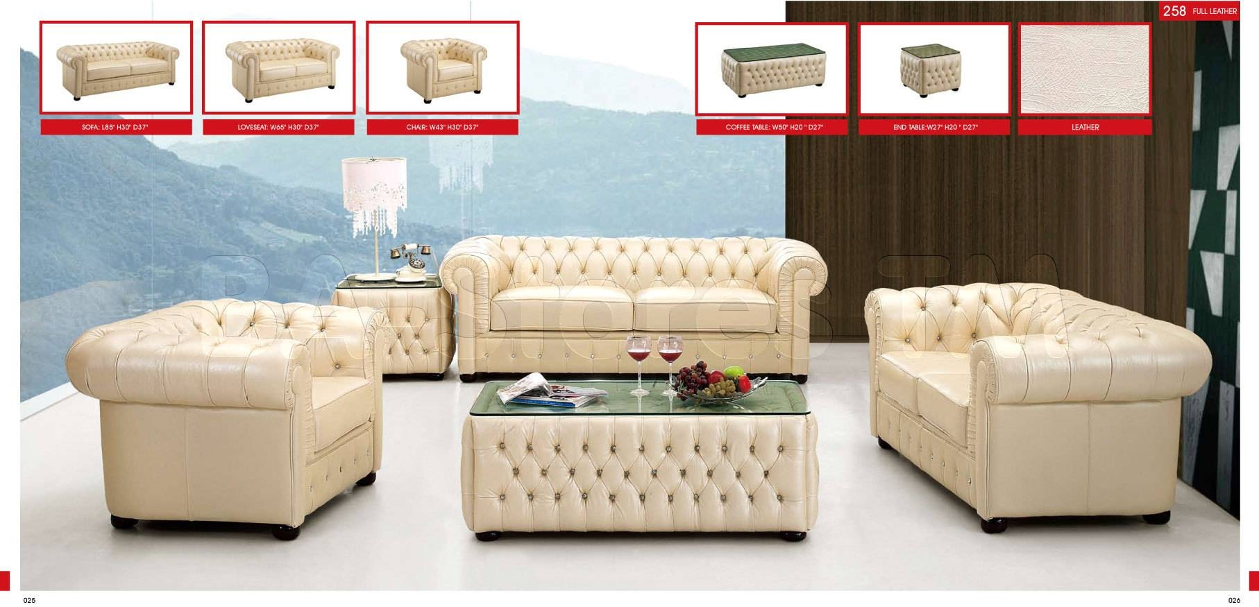 2017 Best of Ivory Leather Sofas