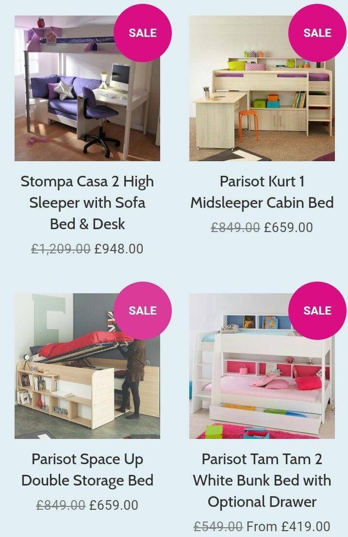 26 Best Beds With Storage Images On Pinterest | Beds With Storage throughout High Sleeper With Desk And Sofa (Image 1 of 30)