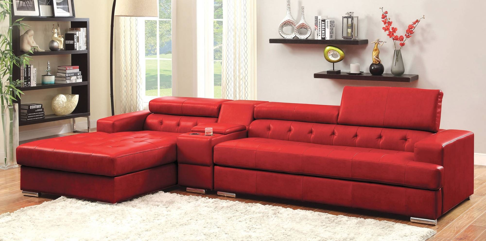 26 Contemporary Red Sofa | Auto-Auctions intended for Red Sofa Chairs (Image 1 of 30)