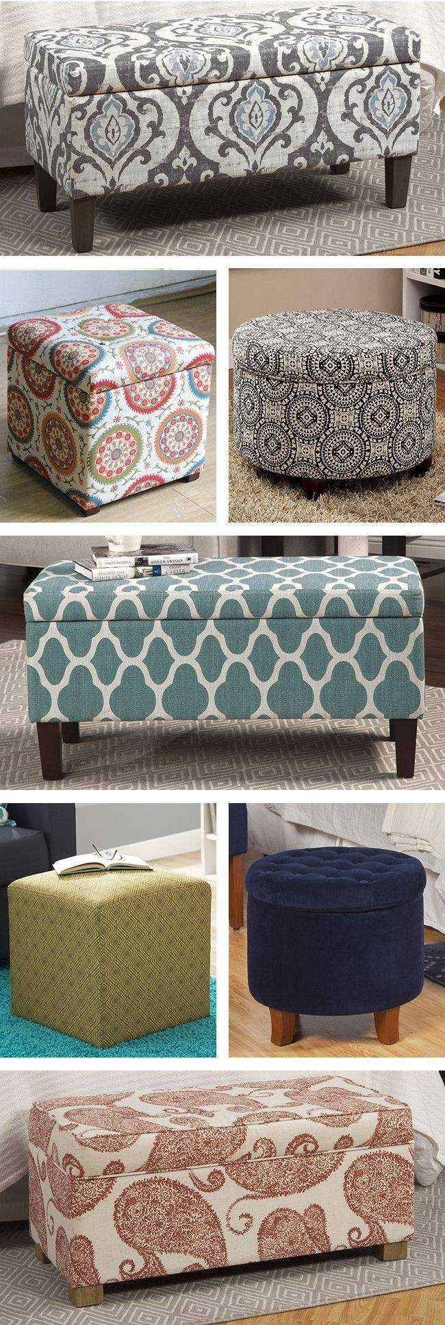 279 Best Ottoman - Pouf - Foot Stool + Images On Pinterest within Footstool Pouffe Sofa Folding Bed (Image 1 of 25)