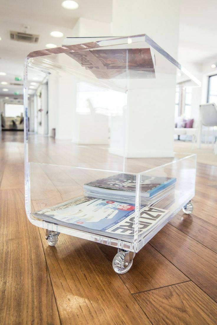 28 Best Plexiglass Images On Pinterest | Acrylic Furniture, Lucite throughout Acrylic Coffee Tables With Magazine Rack (Image 4 of 30)