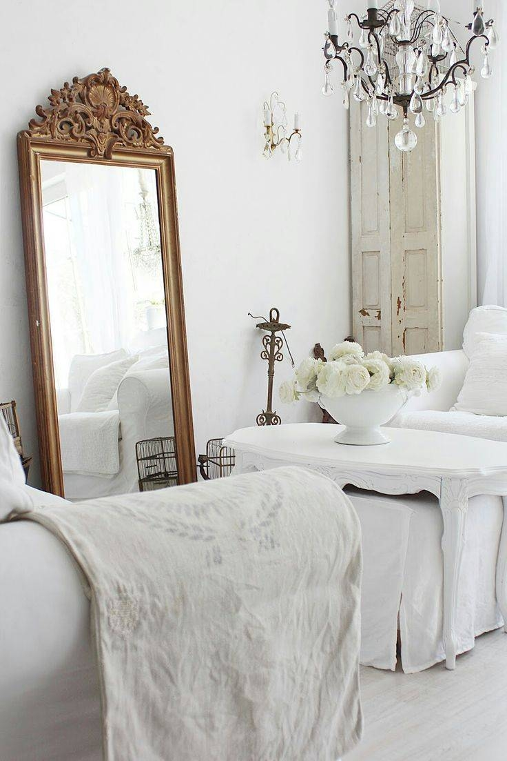287 Best Vintage Mirrors / Brocante Spiegels Images On Pinterest with regard to White Antique Mirrors (Image 1 of 25)