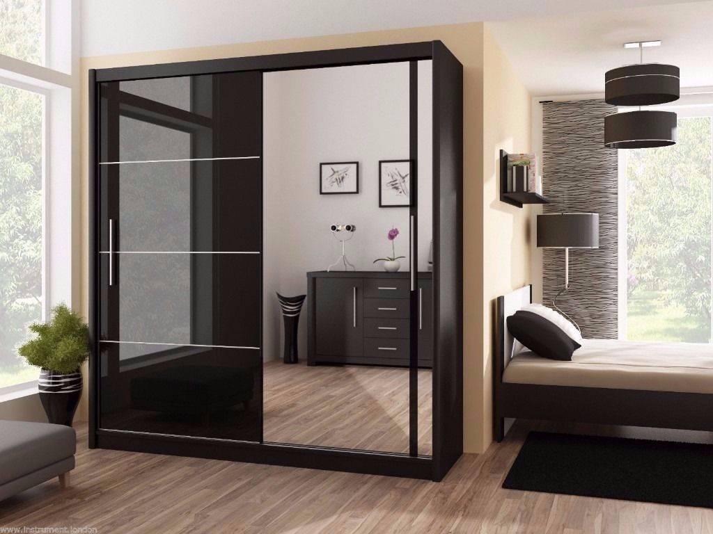 3 Door High Gloss Luxury Sliding Door Wardrobe 203 And 250 Cm Now for High Gloss Doors Wardrobes (Image 2 of 15)