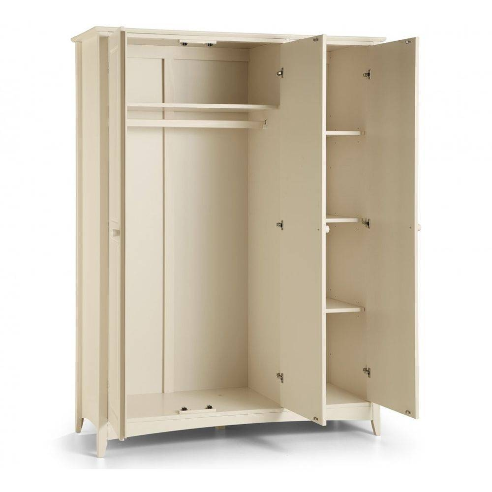 3 Door Triple Wardrobe | Cameo Stone White intended for Triple Door Wardrobes (Image 1 of 15)