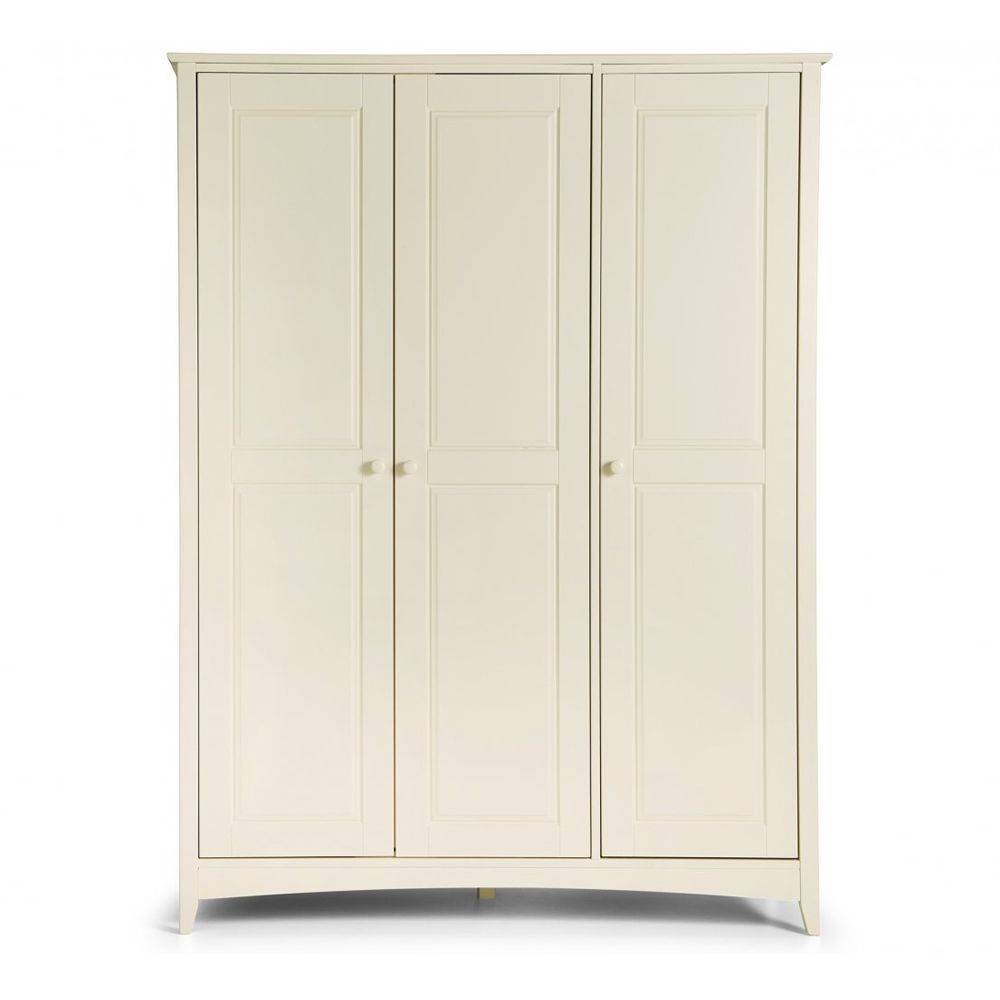 3 Door Triple Wardrobe | Cameo Stone White regarding Cameo 2 Door Wardrobes (Image 3 of 15)