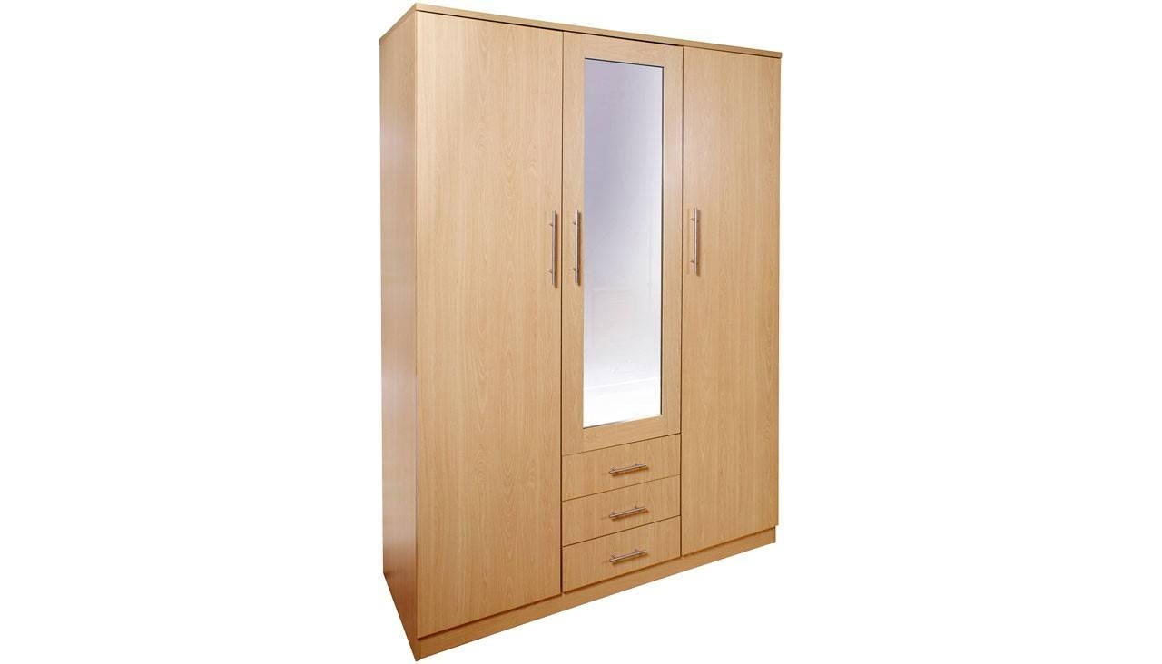 3 Door Wardrobe From The Marseille Range | Ahf regarding Wardrobes Cheap (Image 1 of 15)