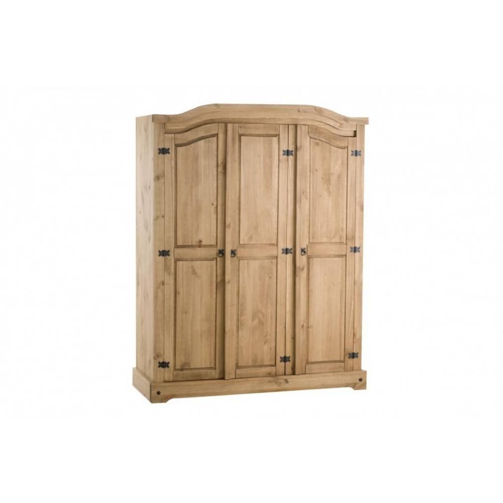 3 Door Wardrobe inside Corona 3 Door Wardrobes (Image 2 of 15)