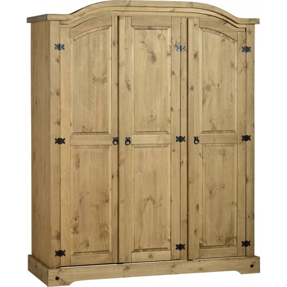 3 Door Wardrobe inside Corona 3 Door Wardrobes (Image 1 of 15)