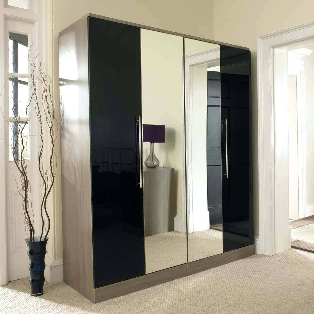3 Doors Drawers Wardrobe With Mirrorlarge Wardrobes Mirrored within Wardrobes With Mirror (Image 2 of 15)