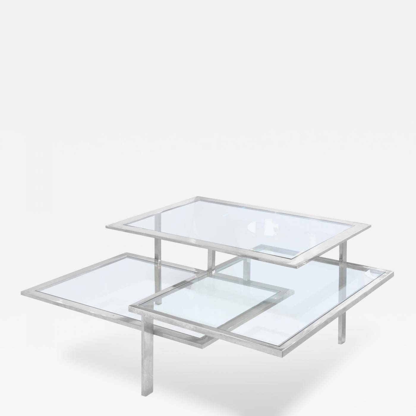 3 Level Chrome And Glass Coffee Table for Chrome And Glass Coffee Tables (Image 1 of 30)