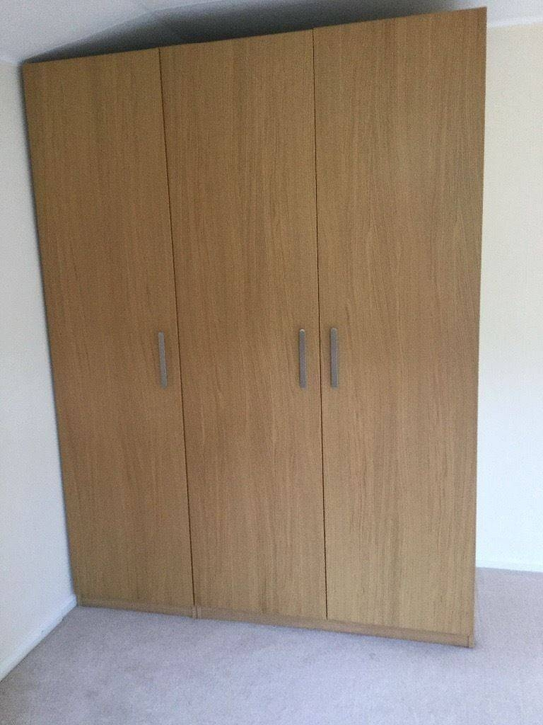 3 Pax Nexus Triple Door Wardrobes | In Addlestone, Surrey | Gumtree within Triple Door Wardrobes (Image 2 of 15)