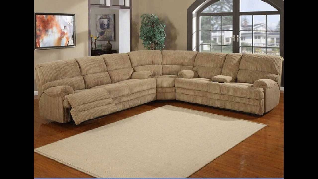 3 Pc Denton Hazel Cordy Fabric Upholstered Sectional Sofa With intended for Sectional Sofa Recliners (Image 1 of 30)