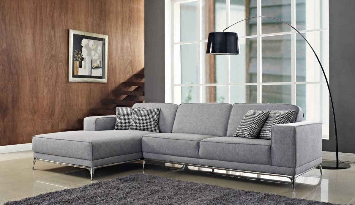 3 Piece Gray Color Sectional Sleeper Sofa With Stainless Steel within 3 Piece Sectional Sleeper Sofa (Image 1 of 30)