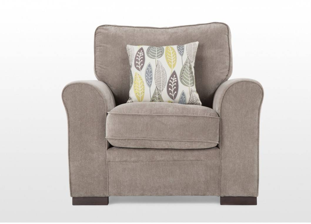 3 Seater Fabric Pillow Back Sofa And Two Armchairs Package - Eton inside Fabric Armchairs (Image 1 of 30)