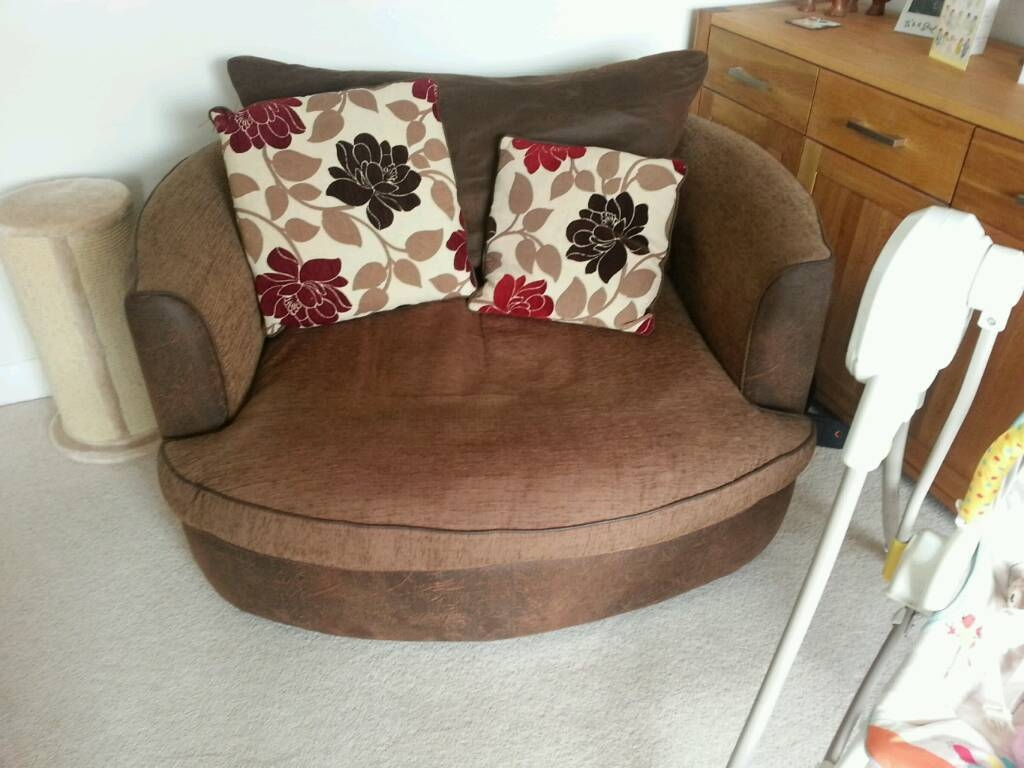3 Seater Sofa & Cuddle Chair | In York, North Yorkshire | Gumtree Throughout 3 Seater Sofa And Cuddle Chairs (Photo 225 of 298)