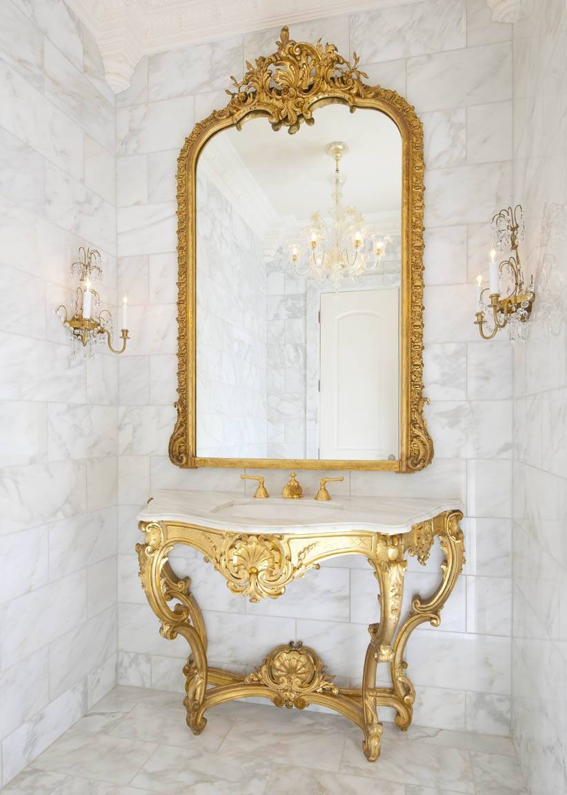 3 Secrets To French Decorating: Versailles Inspired Rooms pertaining to French Gold Mirrors (Image 8 of 25)