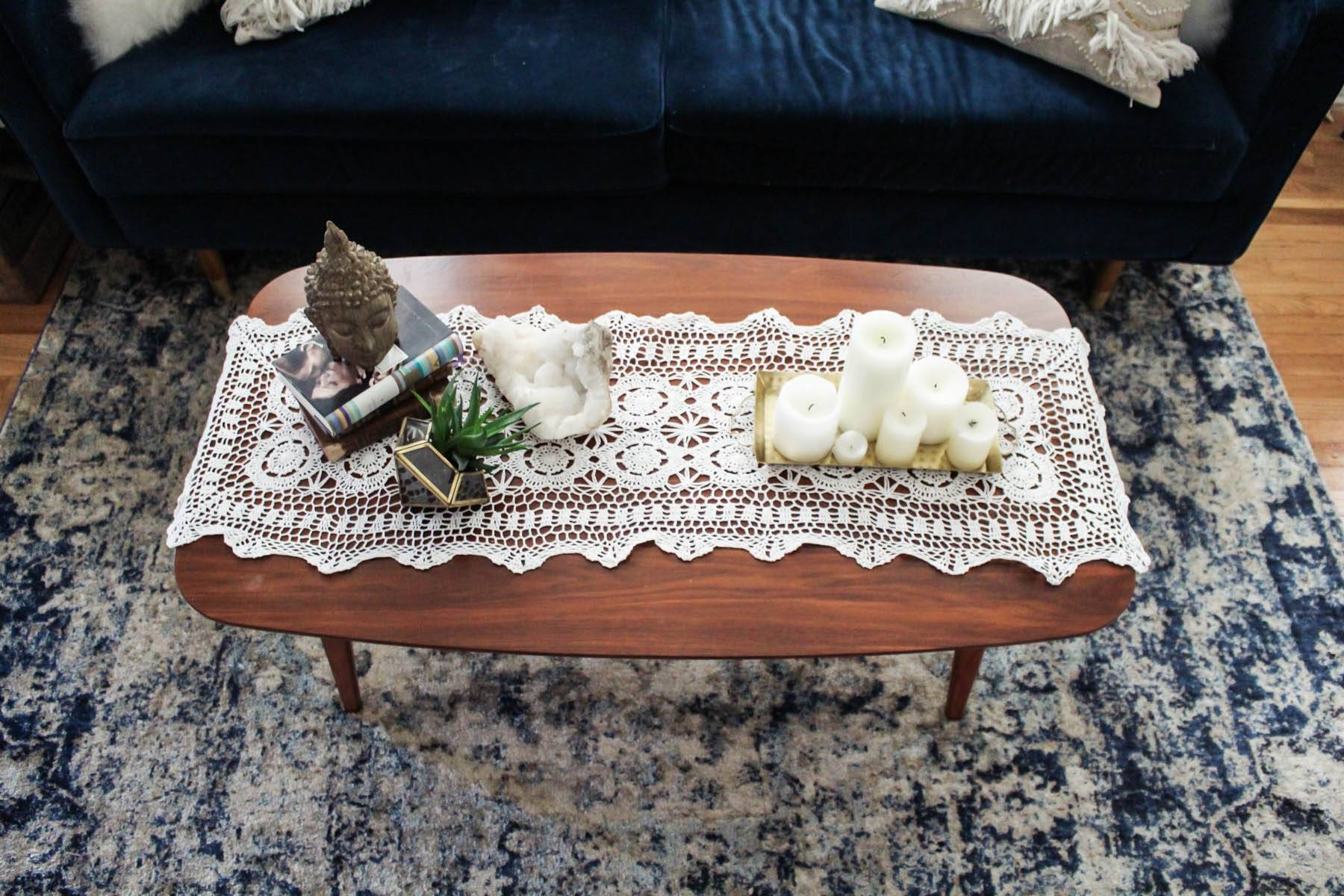 3 Ways To Style A Coffee Table | Advice From A Twenty Something with Boho Coffee Tables (Image 4 of 30)