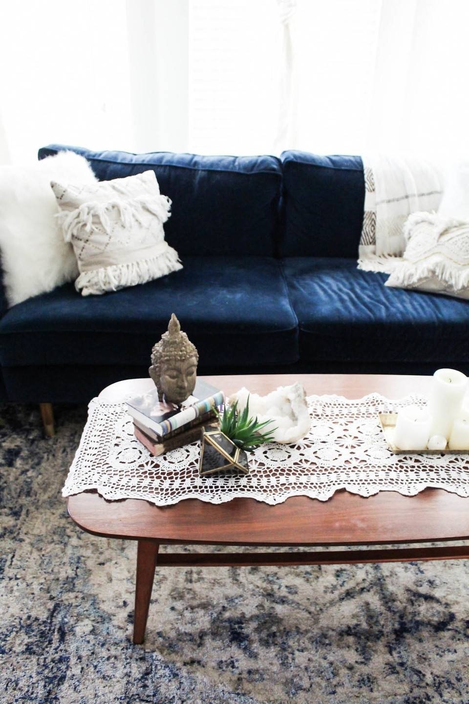 3 Ways To Style A Coffee Table – Whitney Port Inside Buddha Coffee Tables (View 5 of 30)