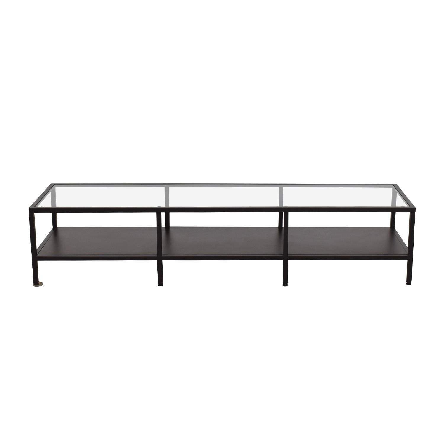 30% Off - Ikea Ikea Metal Glass Coffee Table Media Unit / Tables within Metal Glass Coffee Tables (Image 1 of 30)