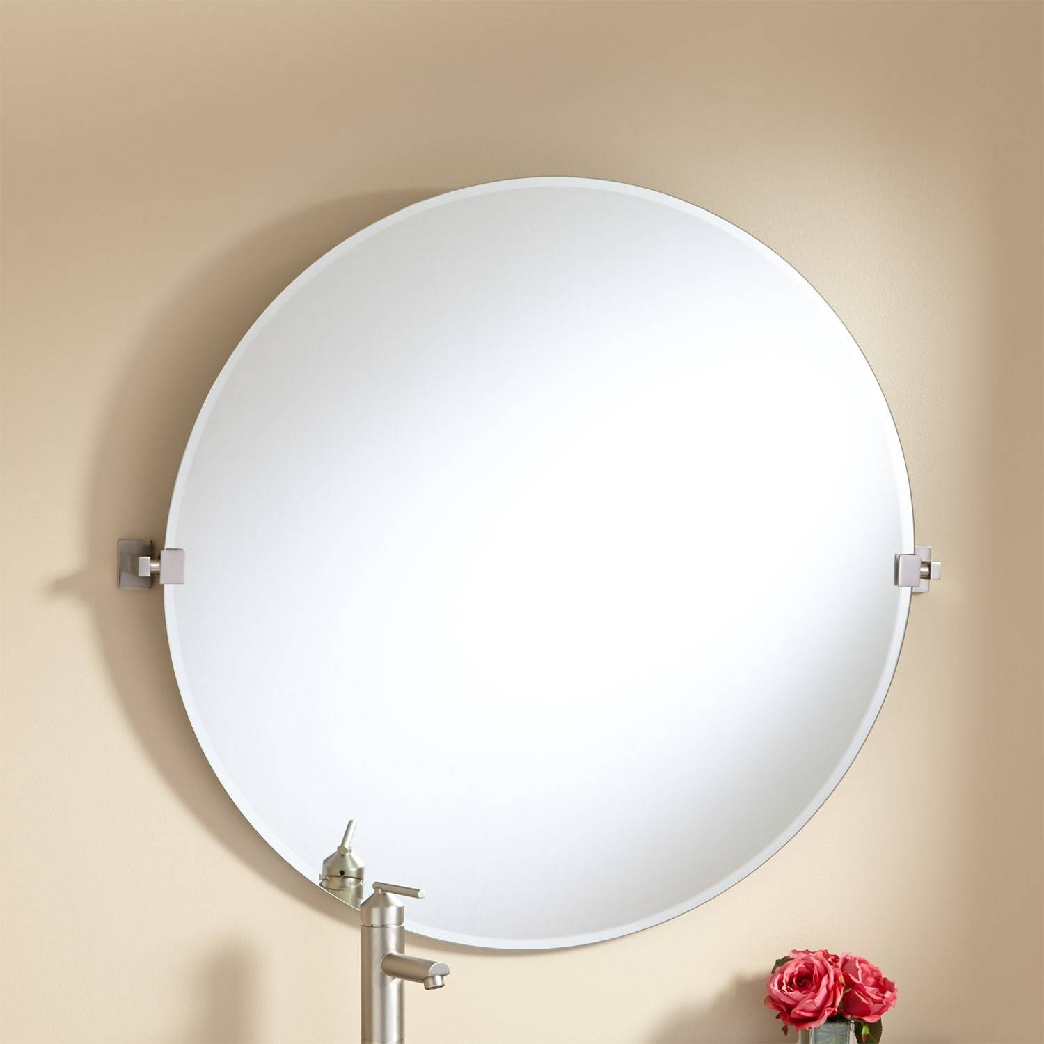 "32"" Helsinki Round Tilting Mirror - Bathroom with Contemporary Round Mirrors (Image 2 of 25)"