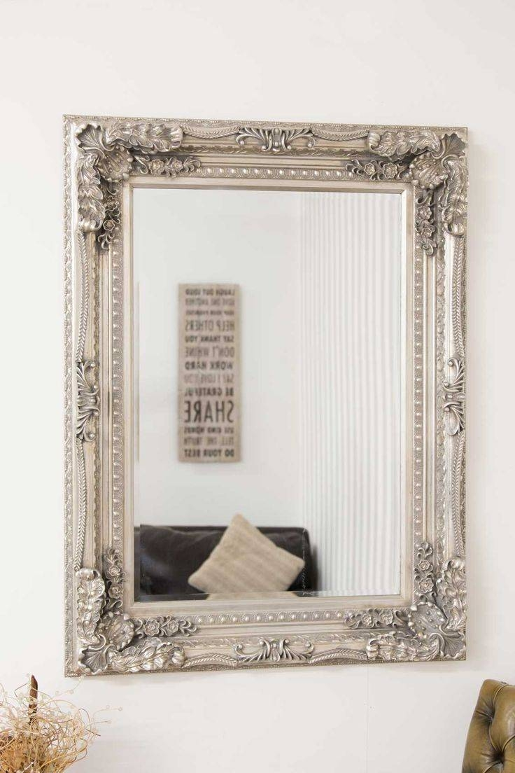 33 Best Mirrors Images On Pinterest | Wall Mirrors, Antique Silver regarding Big Antique Mirrors (Image 4 of 25)